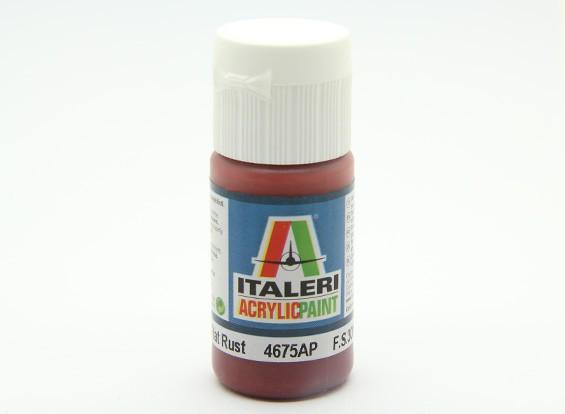 Italeri Acrylfarbe - Flach Rust