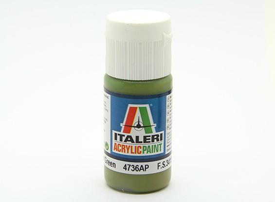 Italeri Acrylfarbe - Flache Innen Grün