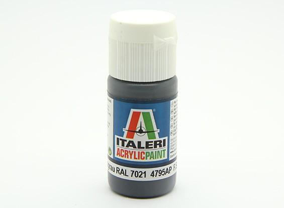 Italeri Acrylfarbe - Flach Pz Schwarzgrau RAL 7021