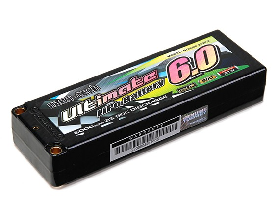 Turnigy Nano-Tech ultimative 6000mAh 2S2P 90C Hardcase Lipo-Pack (ROAR & BRCA-Zulassung)