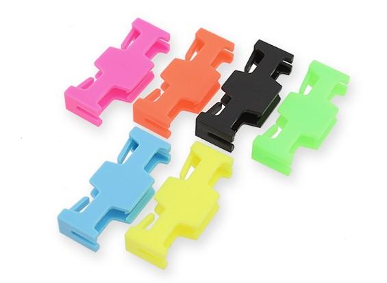 Servoverlängerungs-Sicherheitsschloss Neonfarben (6pcs)