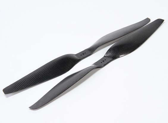 Acromodelle Carbon-Faser T-Style Propeller 16x5.5 Schwarz (CW / CCW) (2 Stück)