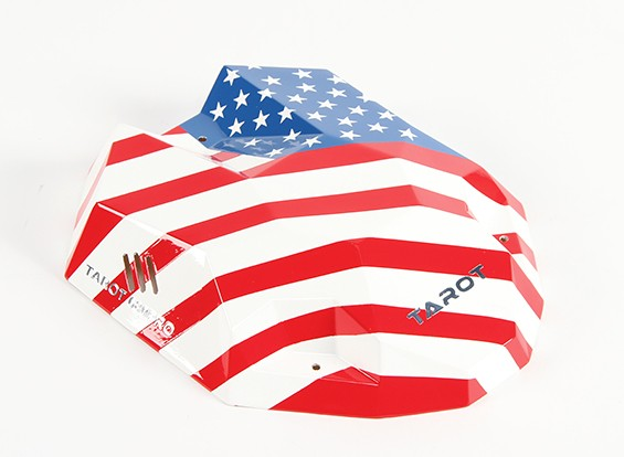 Tarot 680Pro Hexacopter Stars and Stripes Painted Canopy mit Fitting Kit (1pc)