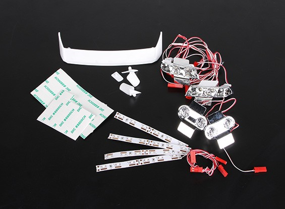 LED-Licht und Lampen-Halter - Turnigy Kleiner Kosmos 1/16 Drift Car