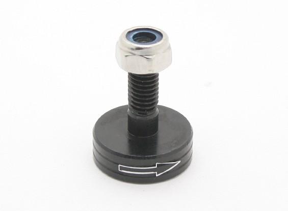 CNC-Aluminium M6 Quick Release Self-Anzugs Prop-Adapter - Schwarz (Prop-Side) (im Uhrzeigersinn)