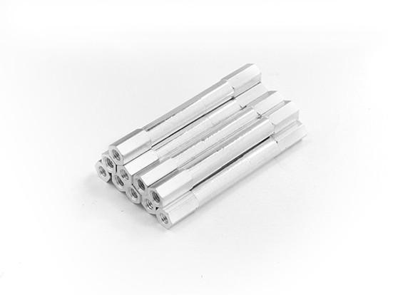 Leichte Aluminium-Rund Abschnitt Spacer M3 x 45mm (10pcs / set)