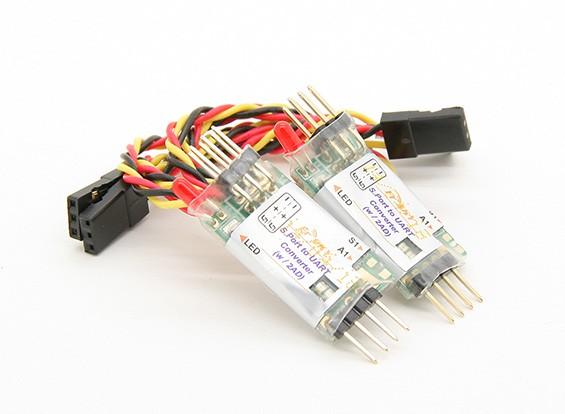 FRSKY S.Port zum UART-Konverter (ADC mit 2 Ports)