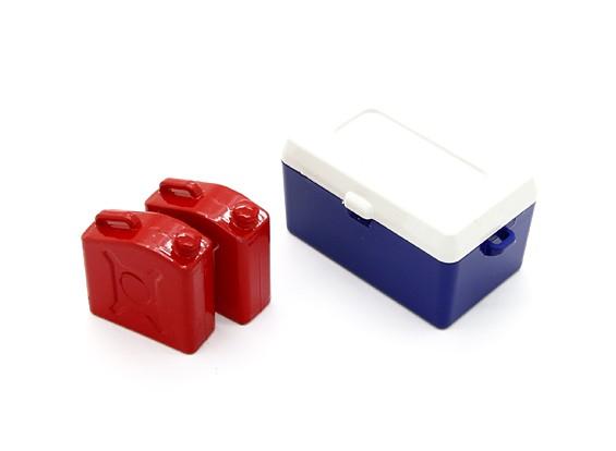 Maßstab 1:10 Kraftstoff Can & Ice Box