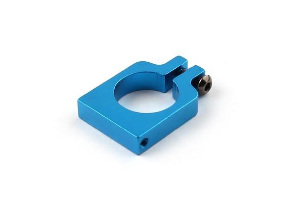 Blau eloxiert Einhäuptiges CNC-Aluminiumrohrklemme 16 mm Durchmesser
