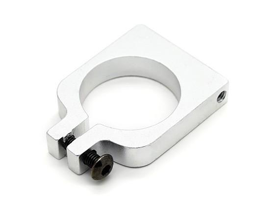 Silber eloxiert Einhäuptiges CNC-Aluminiumrohrklemme 20 mm Durchmesser