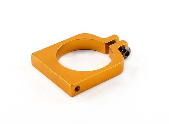 Gold eloxiert Einhäuptiges CNC-Aluminiumrohrklemme 25 mm Durchmesser