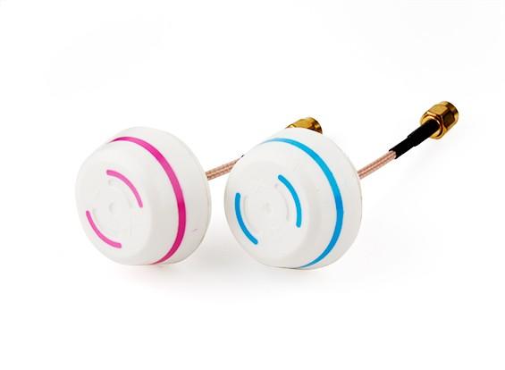5.8GHz zirkular polarisierte Antenne Set-Sender und Empfänger (RP-SMA)