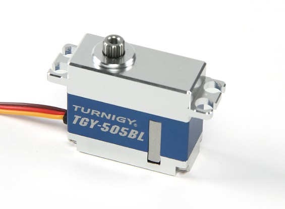 Turnigy ™ TGY-505BL Brushless HV / DS / MG Servo w / Legierung Fall 6.2kg / 0.08sec / 40g
