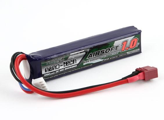 Turnigy Nano-Tech-1000mAh 3S 20 ~ 40C Lipo AIRSOFT Packung (T-Anschluss)