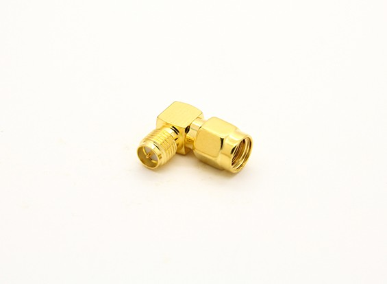 RP-SMA-Buchse <-> RP-SMA-Stecker 90 Grad Adapter