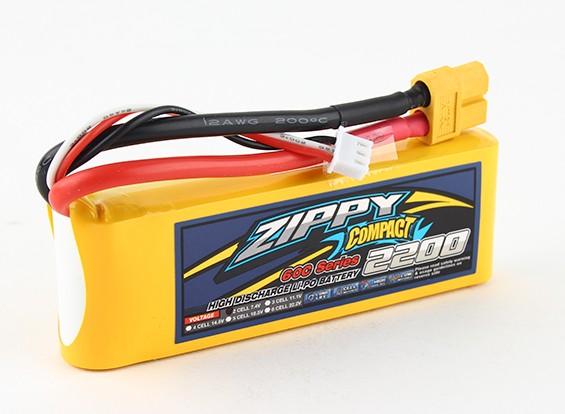 ZIPPY Compact 2200mAh 2s 60c Lipo-Pack
