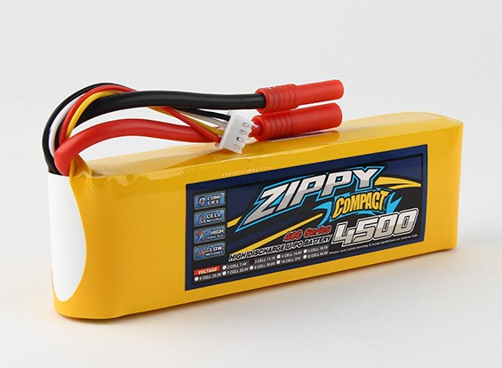 ZIPPY Compact 4500mAh 3s 40c Lipo-Pack