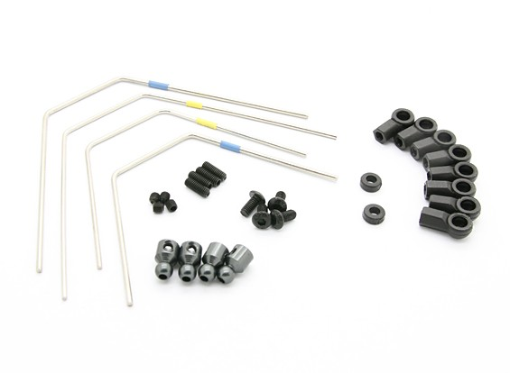 BSR Racing M.RAGE 4WD M-Chassis - Option Sway Bar Set (F & R)