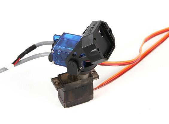 Fatshark 180deg 2 Achse Pan- und Tilt-System mit Shielded A / V-Kabel