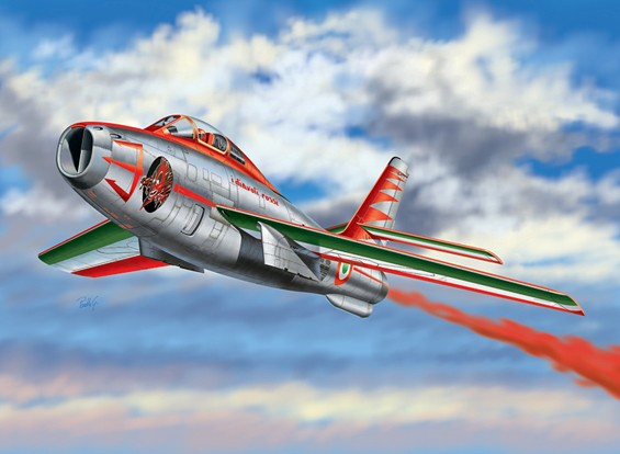 "Italeri 1:48 F-84F Thunderstreak ""Diavoli Rossi"" Plastic Model Kit"