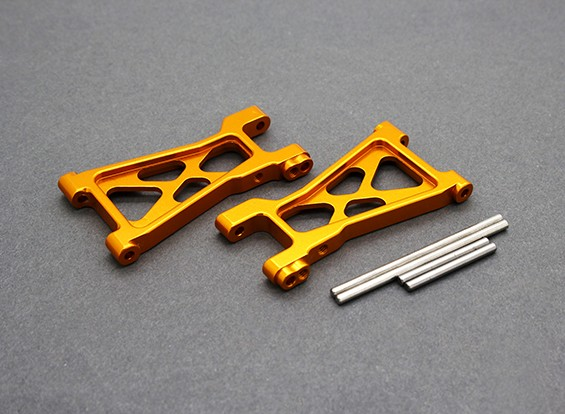 Option Alu. Lower Susp. Arm - Basher PitBull 1/18 4WD Buggy Wüste (1 Paar)