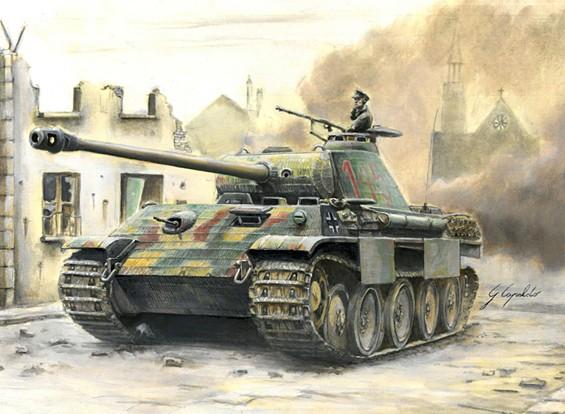 Italeri 1/56 Maßstab deutschen Sd.Kfz.171 Panther Ausf.A Plastikmodellbausatz