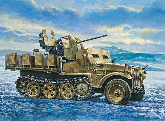 Italeri 1/35 Demag D7 mit Flak 38 Sd. Kfz. 05.10 Plastic Model Kit