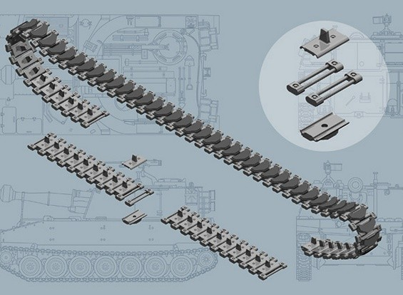 Italeri 1/35 Skala US M108 / M109-Serie T-136 Tracks Plastikmodellbauzubehör