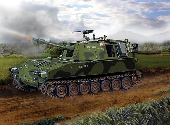 Italeri Maßstab 1:35 M108 Panzer Plastik Bausatz