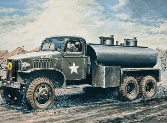 Italeri 1/35 2.5 Ton 6x6 Wassertank Pastic Model Kit