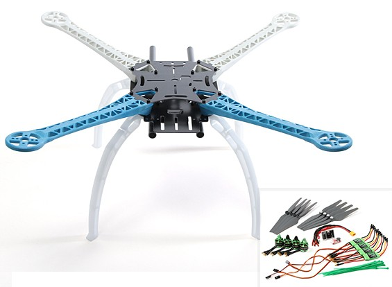 S500 FR4-Glasfaser-Quadrocopter 480mm PNF Combo