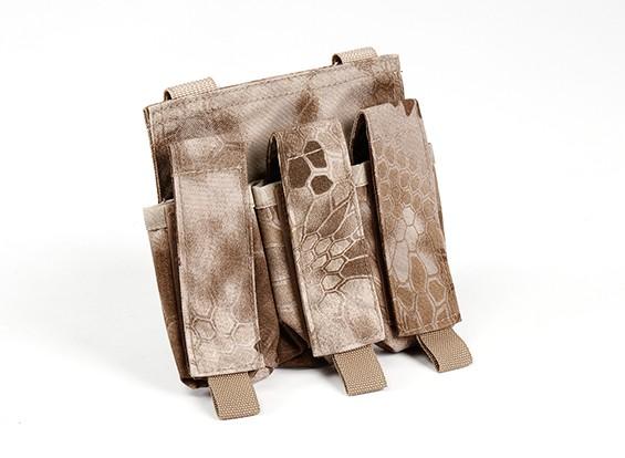 SWAT 500D Nylon Molle Handgun Triple-Mag Pouch (Kryptek nomand)