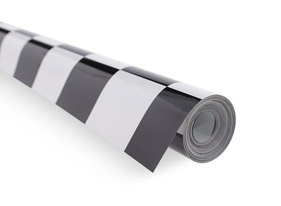 Bedecken Film Grill-Arbeit Schwarz / Weiß (5mtr) 402
