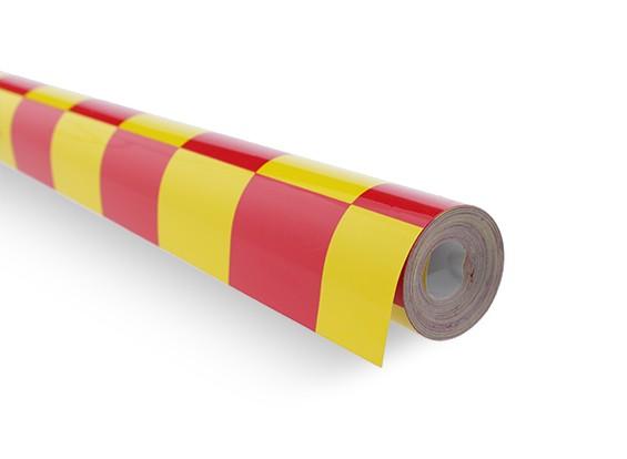 Abdeckfolie Grill-Arbeit Rot / Gelb (5mtr) 403
