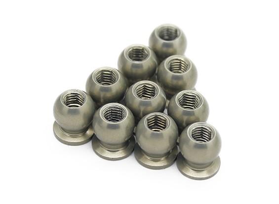 7075 Aluminium Teflon beschichtet 5.8mm Hex-Kugelgelenk-H = 4 (10 Stück) - 3Racing SAKURA FF 2014