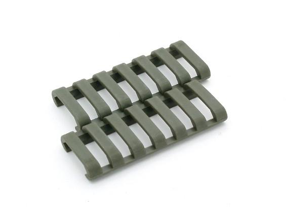 Ergo 7-Slot LowProfile Ladder Schienenabdeckung (2 Stück / Beutel, Olive Drab)
