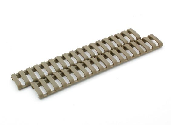 Ergo 18-Slot LowProfile Ladder Schienenabdeckung (2ST / bag, dunkle Erde)