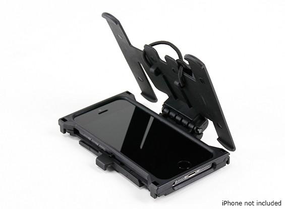 FMA Mobil Fall mit MOLLE Plattform für iPhone 5 / 5S (Schwarz)