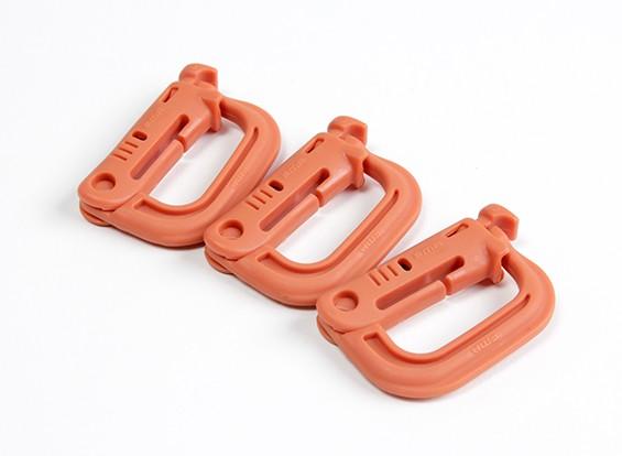 FMA Typ D Schnellhakenaufhänger (3pcs / set, orange)