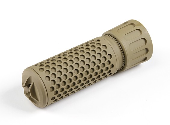 Madbull KAC QDC CQB Airsoft Dummy Suppressor (TAN, 14mm CCW)