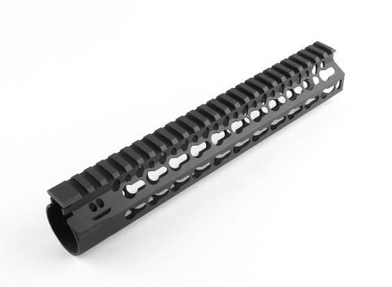 Dytac Bravo-Schiene 10 Zoll für Tokyo Marui Profile (M31.8 / P1.5, Schwarz)