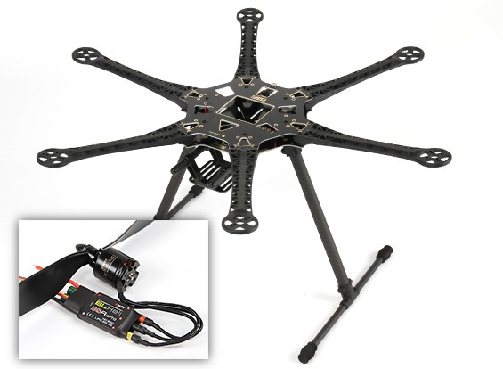 Hobbyking ™ S550 Hexcopter Combo (Frame, WSA und Motoren) (ARF)