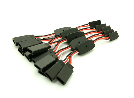 6cm Futaba 26AWG Straight Wire 2F bis 1 M Y Blei 5pcs