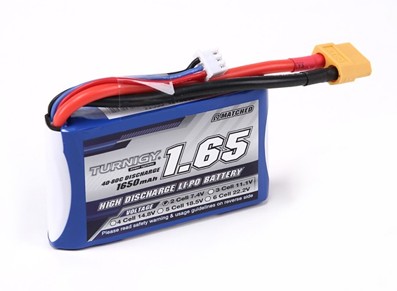 Turnigy 1650mAh 2S 40C Lipo-Pack für H-King Sand Storm 1 / 12. 2WD Buggy