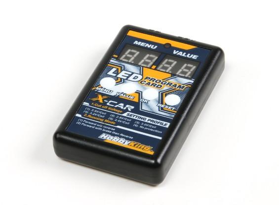 HobbyKing® ™ X-Car Tier-Reihe Digtal LED-Anzeige-Programm-Karte