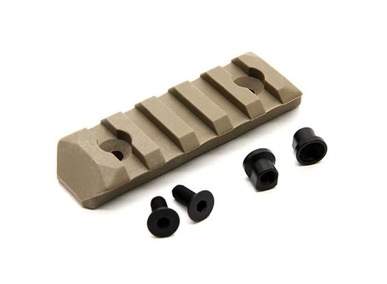 PTS Verbesserte Schienenabschnitt Keymod 5 Slots (Dark Eart