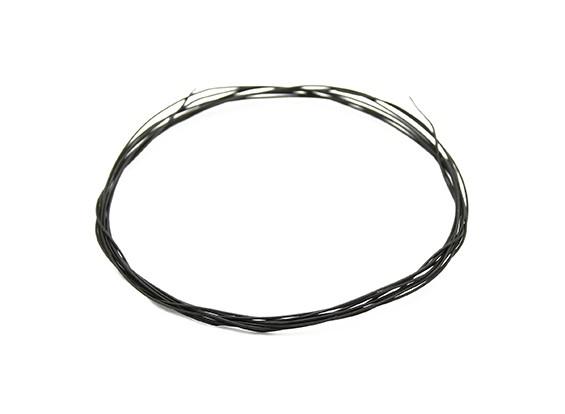 Turnigy Qualitäts-36AWG Teflon beschichteter Draht 1m (schwarz)