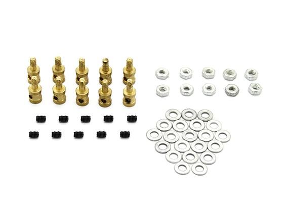 Messing Linkage-Stopper für 1.2mm Pushrods (10 Stück)