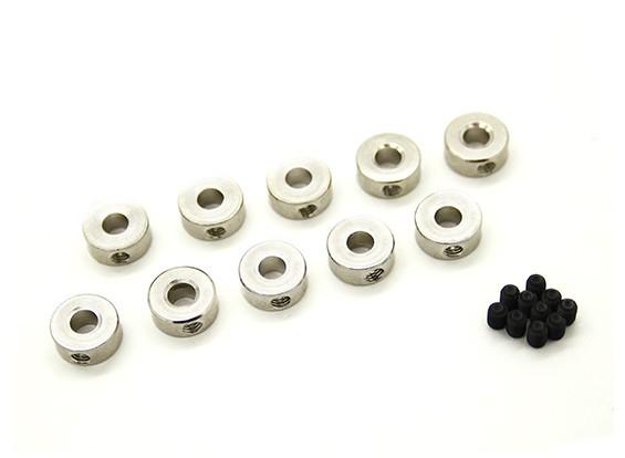 Fahrwerk Rad-Anschlaghülse für 4mm Achse (10 Stück)
