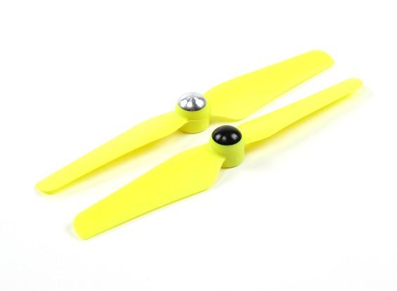 5 x 3.2 Selbstanzugs Propeller für Multi-Rotor CW & CCW Rotation (1 Paar) Gelb